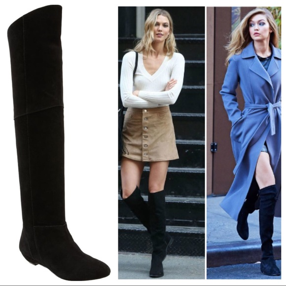 8a35752b892 Steve Madden Overrpas Suede Over the Knee Boot. M 5b92ea5cfb3803b343499c71